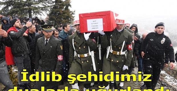 İdlib Şehidi, Büyükoturak Köyünde ebediyete uğurlandı
