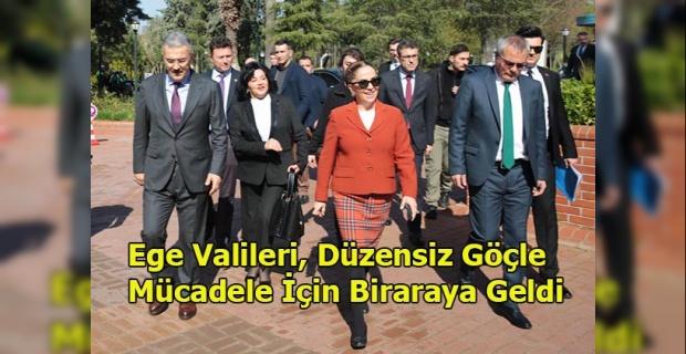 """Vali Funda Kocabıyık, İzmir'de düzenlenen """"Düzensiz Göçle Mücadele Koordinasyon Toplantısı""""na katıldı"""