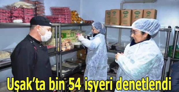 Uşak'ta bin 54 işyeri denetlendi