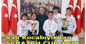 Vali Funda Kocabıyık, SCRATCH CUP 2020 şampiyonlarını kabul etti